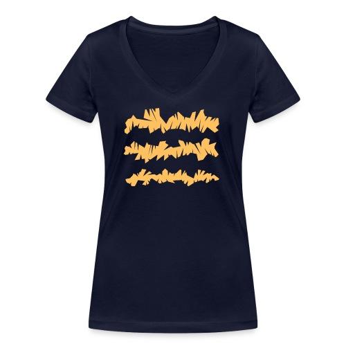 Orange_Sample.png - Frauen Bio-T-Shirt mit V-Ausschnitt von Stanley & Stella