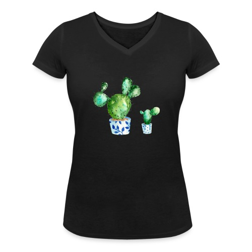 Kaktus - Women's Organic V-Neck T-Shirt by Stanley & Stella