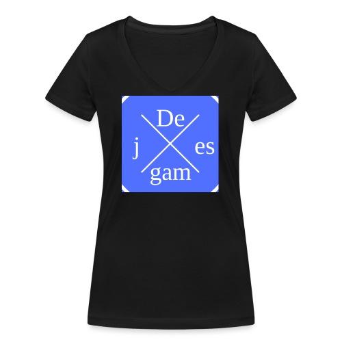 de j games kleren - Vrouwen bio T-shirt met V-hals van Stanley & Stella