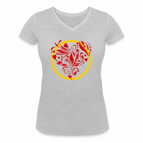 Herzemblem - Frauen Bio-T-Shirt mit V-Ausschnitt von Stanley & Stella