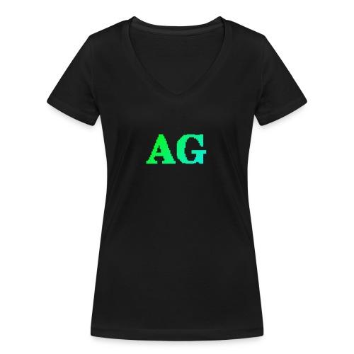 ATG Games logo - Stanley & Stellan naisten v-aukkoinen luomu-T-paita