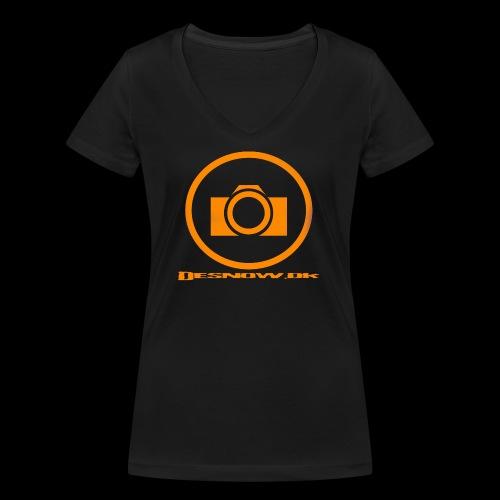 Orange 2 png - Økologisk Stanley & Stella T-shirt med V-udskæring til damer