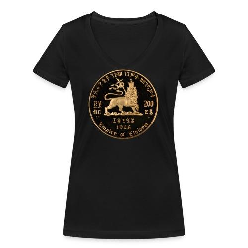 Lion of Judah - Empire of Ethiopia Haile Selassie - Frauen Bio-T-Shirt mit V-Ausschnitt von Stanley & Stella