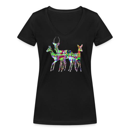 Biches - T-shirt bio col V Stanley & Stella Femme
