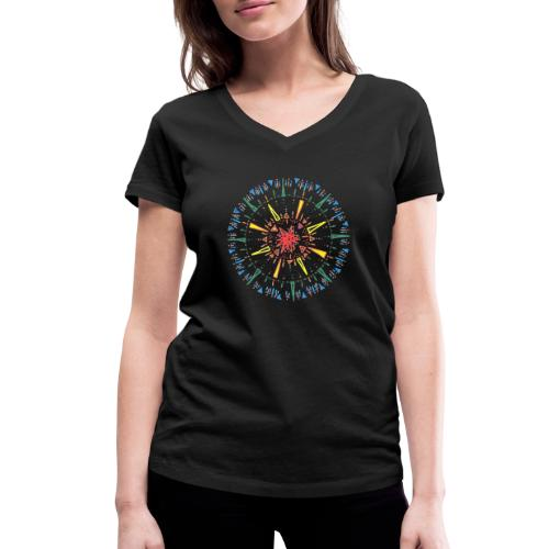 Attention - Women's Organic V-Neck T-Shirt by Stanley & Stella