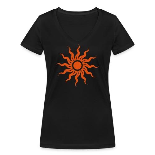 Golden Sun - Sonne - Frauen Bio-T-Shirt mit V-Ausschnitt von Stanley & Stella