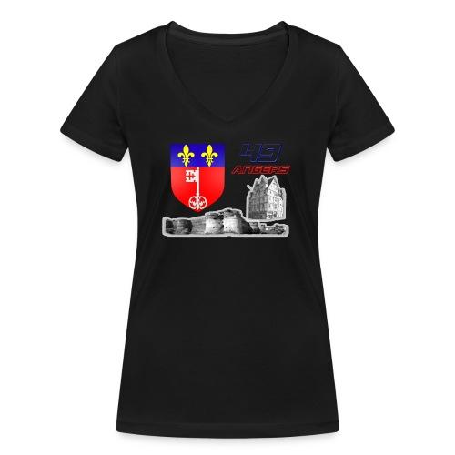 49 Angers - T-shirt bio col V Stanley & Stella Femme