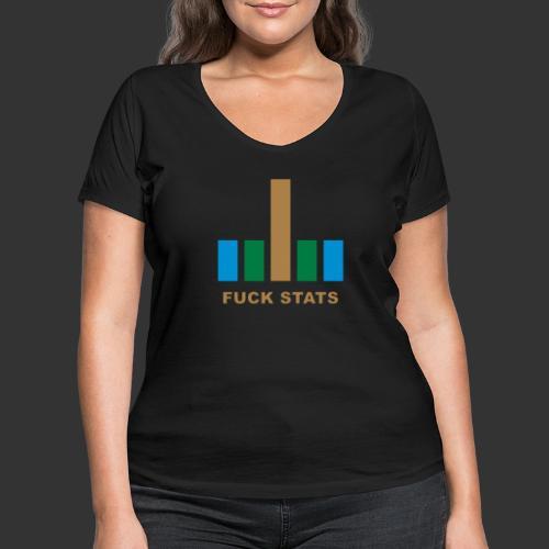 F*CK Stats - T-shirt bio col V Stanley & Stella Femme