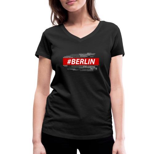 Hashtag Berlin - Frauen Bio-T-Shirt mit V-Ausschnitt von Stanley & Stella