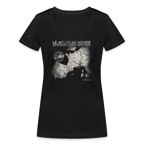 euroregions BLANC - T-shirt bio col V Stanley & Stella Femme