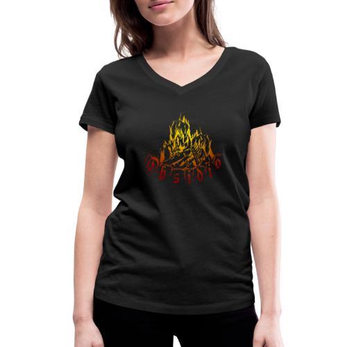 Obsidio Feuer - Frauen Bio-T-Shirt mit V-Ausschnitt von Stanley & Stella