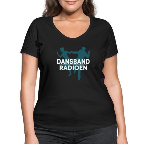 Dansbandradioen - Økologisk T-skjorte med V-hals for kvinner fra Stanley & Stella