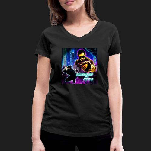 Enter the Hero - Stanley & Stellan naisten v-aukkoinen luomu-T-paita