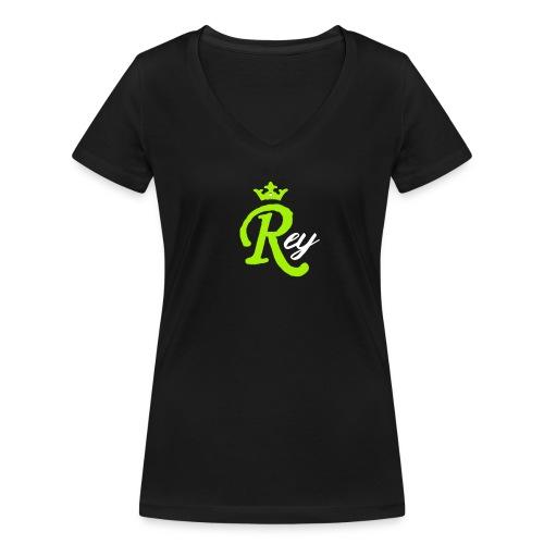 Rey - Camiseta ecológica mujer con cuello de pico de Stanley & Stella
