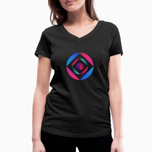 Bi Circle - Women's Organic V-Neck T-Shirt by Stanley & Stella
