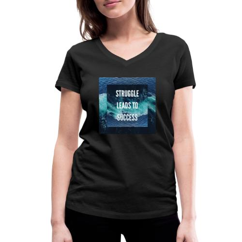 Ocean King - Women's Organic V-Neck T-Shirt by Stanley & Stella