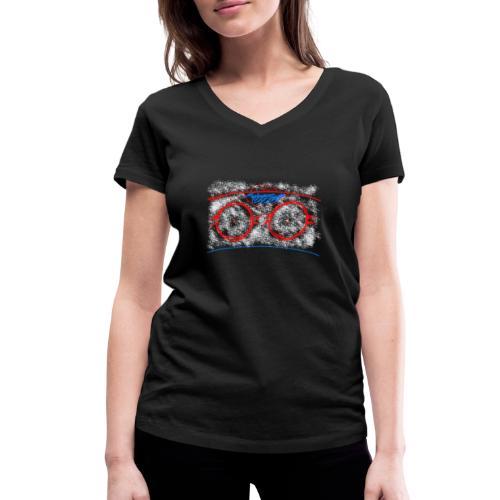 hockeyfield - Frauen Bio-T-Shirt mit V-Ausschnitt von Stanley & Stella