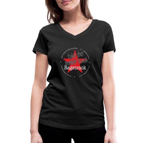 Ragetrack Bandlogo 1 - Frauen Bio-T-Shirt mit V-Ausschnitt von Stanley & Stella