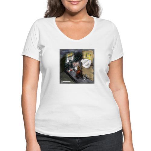 Cartoon SmartZone Ende der Ausbaustrecke - Frauen Bio-T-Shirt mit V-Ausschnitt von Stanley & Stella