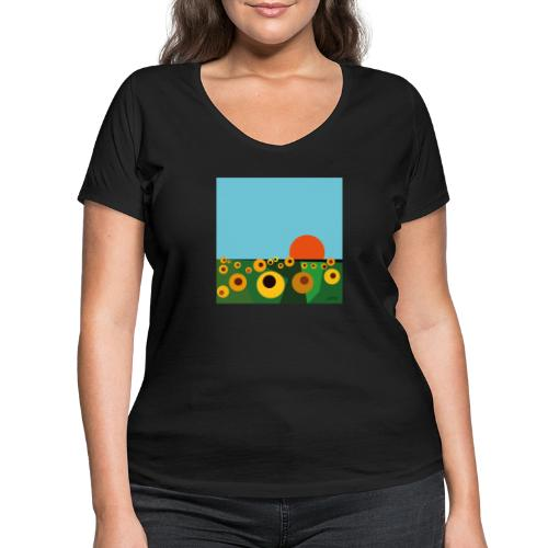 Sunflower - Women's Organic V-Neck T-Shirt by Stanley & Stella