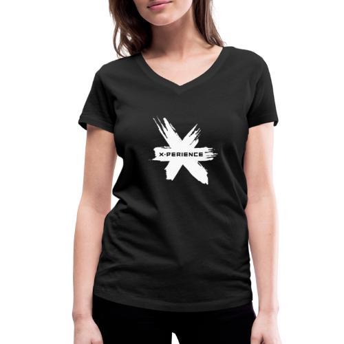 x-perience Logo weiß - Frauen Bio-T-Shirt mit V-Ausschnitt von Stanley & Stella