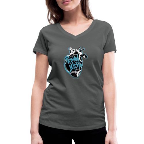 PASIÓN CICLISTA - Camiseta ecológica mujer con cuello de pico de Stanley & Stella