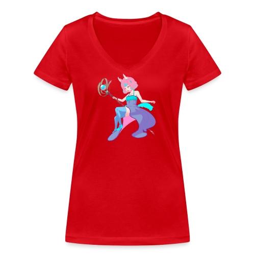 Enchantress - T-shirt ecologica da donna con scollo a V di Stanley & Stella