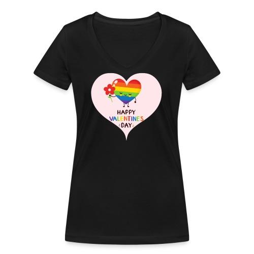 Valentine - Gayday - Frauen Bio-T-Shirt mit V-Ausschnitt von Stanley & Stella