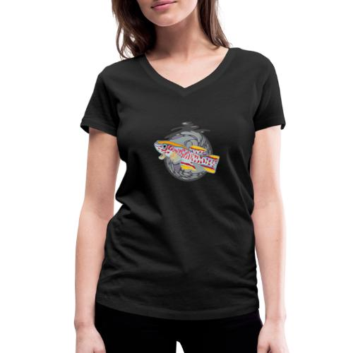 Space Fish Bluecontest - T-shirt bio col V Stanley & Stella Femme