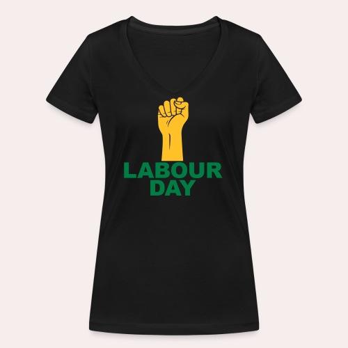 Día del trabajo / Puño en alto - Camiseta ecológica mujer con cuello de pico de Stanley & Stella