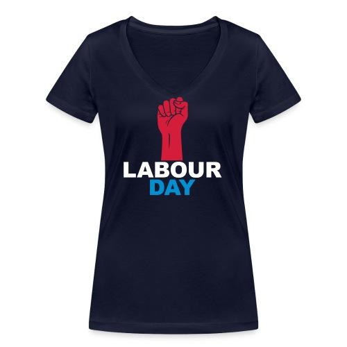 Labour day - Women's Organic V-Neck T-Shirt by Stanley & Stella