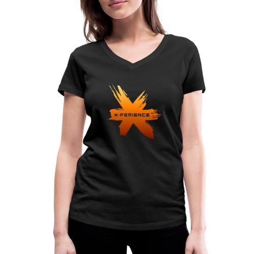 X-Perience Orange Logo - Frauen Bio-T-Shirt mit V-Ausschnitt von Stanley & Stella