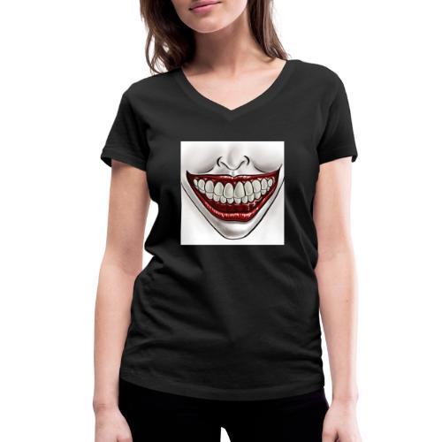 Smile Maske - Frauen Bio-T-Shirt mit V-Ausschnitt von Stanley & Stella