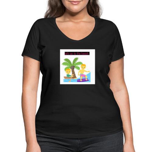 beach - Ekologisk T-shirt med V-ringning dam från Stanley & Stella