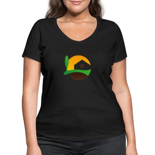 Neues Logo ohne Schriftzug - Frauen Bio-T-Shirt mit V-Ausschnitt von Stanley & Stella