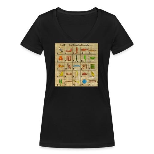 The Hieroglyphic Alphabet - Frauen Bio-T-Shirt mit V-Ausschnitt von Stanley & Stella