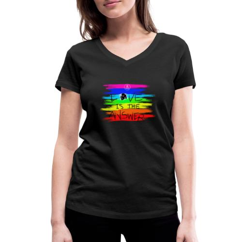 LoveIsTheAnswer MaitriYoga - T-shirt bio col V Stanley & Stella Femme