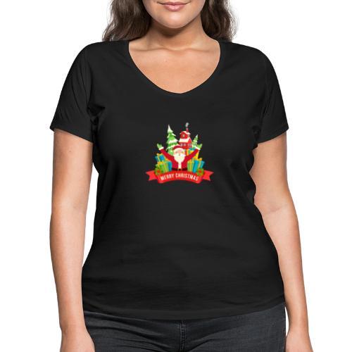 Santa Claus - Camiseta ecológica mujer con cuello de pico de Stanley & Stella