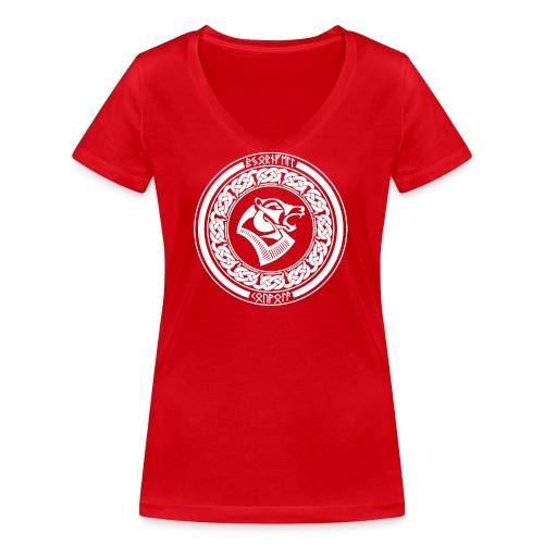 BjörnfellRisingWhite - Stanley & Stellan naisten v-aukkoinen luomu-T-paita