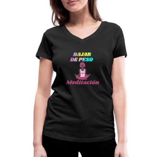 Yoga y meditación - Camiseta ecológica mujer con cuello de pico de Stanley & Stella