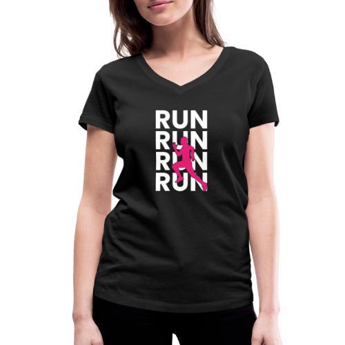 RUN - Frauen Bio-T-Shirt mit V-Ausschnitt von Stanley & Stella