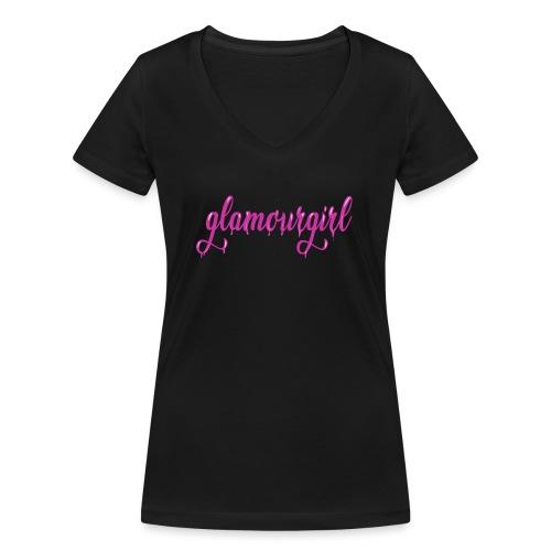 Glamourgirl dripping letters - Vrouwen bio T-shirt met V-hals van Stanley & Stella