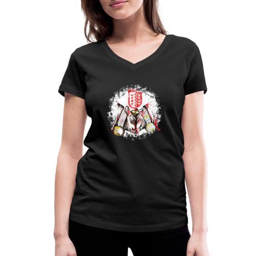 Vache d'hérens Eringer valais - T-shirt bio col V Stanley & Stella Femme