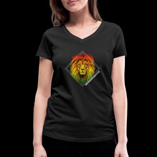 LION HEAD - UNDERGROUNDSOUNDSYSTEM - Frauen Bio-T-Shirt mit V-Ausschnitt von Stanley & Stella