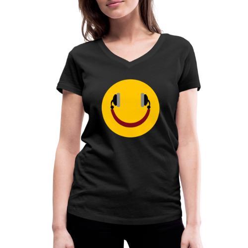 Smiling headphone - Økologisk Stanley & Stella T-shirt med V-udskæring til damer