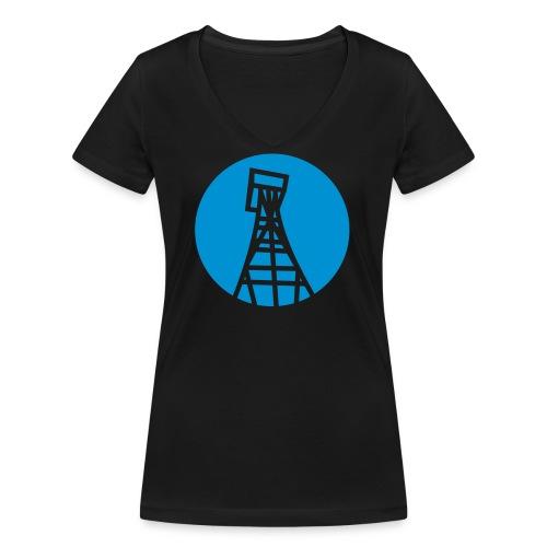 Trittau Online Tasse - Frauen Bio-T-Shirt mit V-Ausschnitt von Stanley & Stella