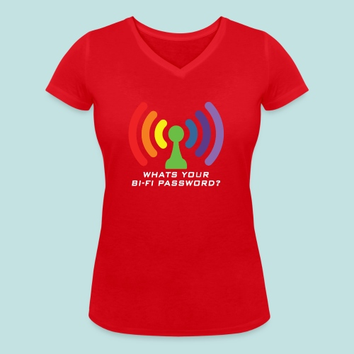 Bi-Fi - Women's Organic V-Neck T-Shirt by Stanley & Stella