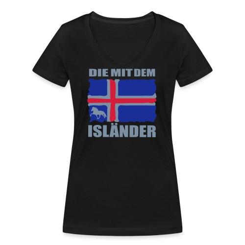Die mit dem Isländer - Frauen Bio-T-Shirt mit V-Ausschnitt von Stanley & Stella