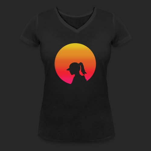 Gradient Girl - Women's Organic V-Neck T-Shirt by Stanley & Stella