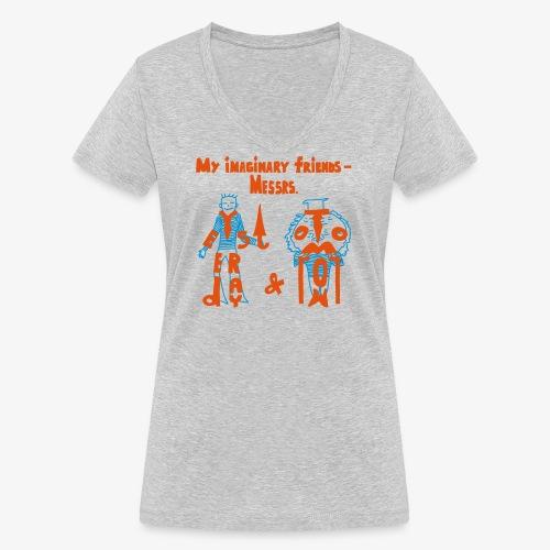 My imaginary friends T-shirt - Frauen Bio-T-Shirt mit V-Ausschnitt von Stanley & Stella
